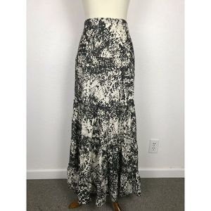 CAbi Sheer Print Tiered Maxi Skirt
